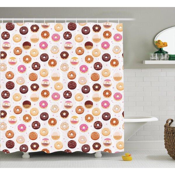 Alethia Colorful Yummy Donuts Shower Curtain by Ebern Designs