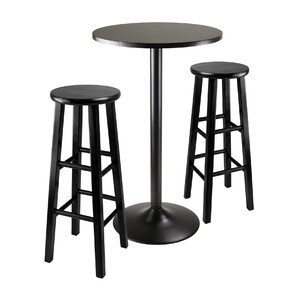 Avery 3 Piece Counter Height Pub Table Set by Zipcode Design