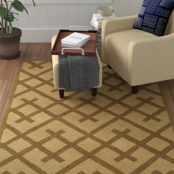 Wycoff Hand-Tufted Brown/Beige Area Rug by Winston Porter