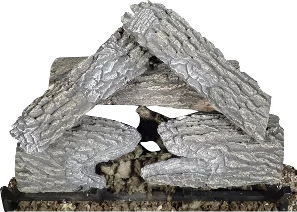Split Natural Gas Log Kit Vented by Tretco