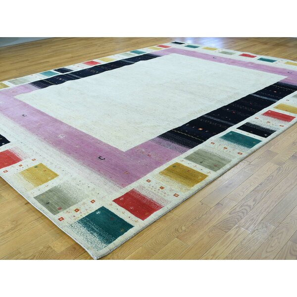 One-of-a-Kind Becker Lori Buft Handwoven Ivory Wool Area Rug by Isabelline