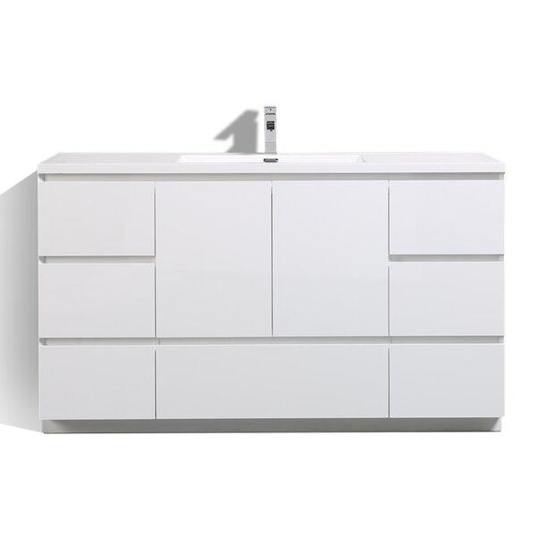 Riker Free Standing 59 Single Bathroom Vanity Set