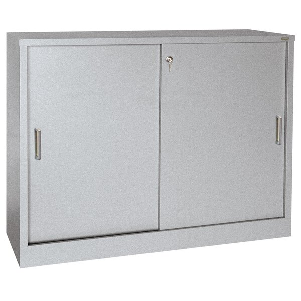 Sliding 2 Door Storage Cabinet by Sandusky Cabinets
