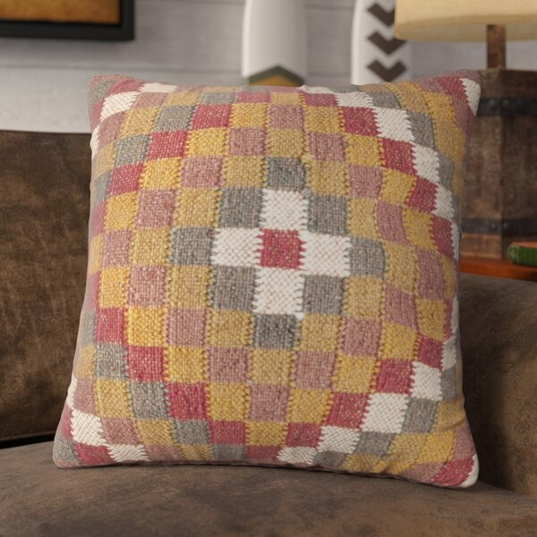 Kilim Cotton blend Throw Pillow by Loon Peak