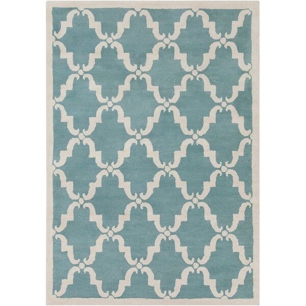 Thurman Moroccan Pattern Blue Area Rug by Darby Home Co