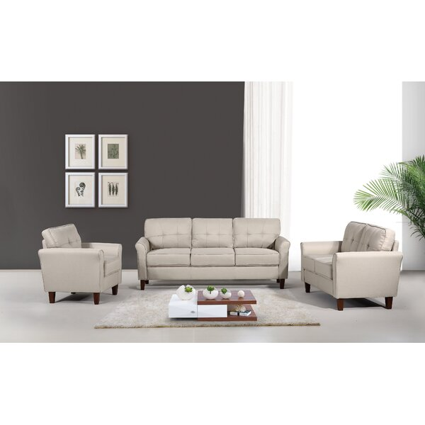Rosenow Tufted Mid Century 3 Piece Living Room Set by Latitude Run