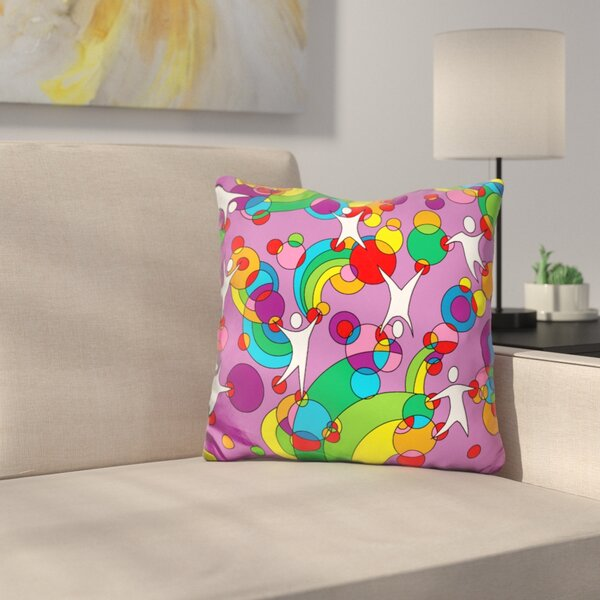 Playground Throw Pillow by East Urban Home