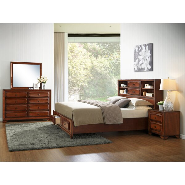 Asger King Platform Bedroom Set by Roundhill Furniture