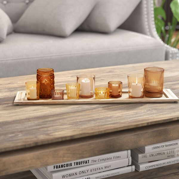 10 Piece Glass Votive Set by Mistana