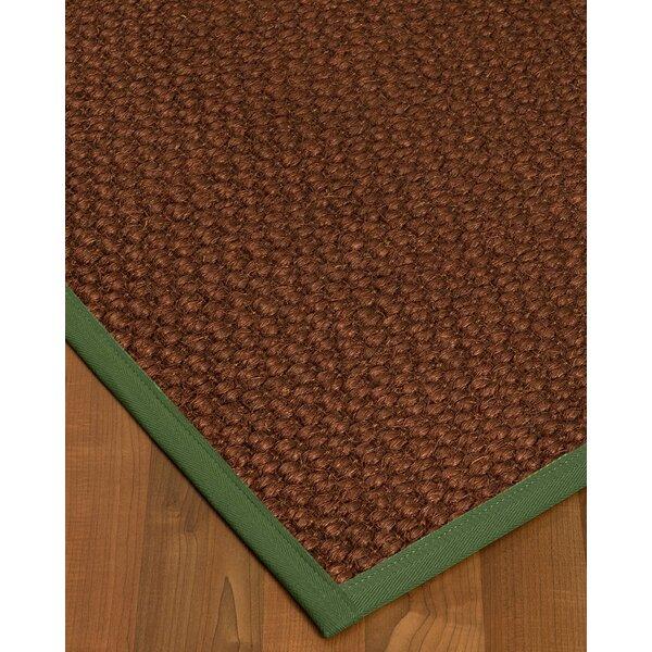 Kerrick Border Hand-Woven Brown/Green Area Rug by Bayou Breeze