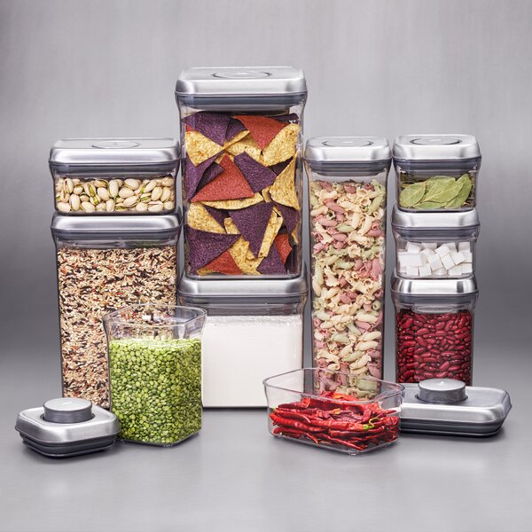 Steel Pop 10 Container Food Storage Set by OXO