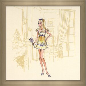 Yellow Nightgown Barbie® by Robert Best Framed Painting Print by Picture Perfect International