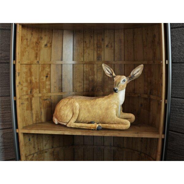 Crompton Sitting Doe Figurine by Loon Peak
