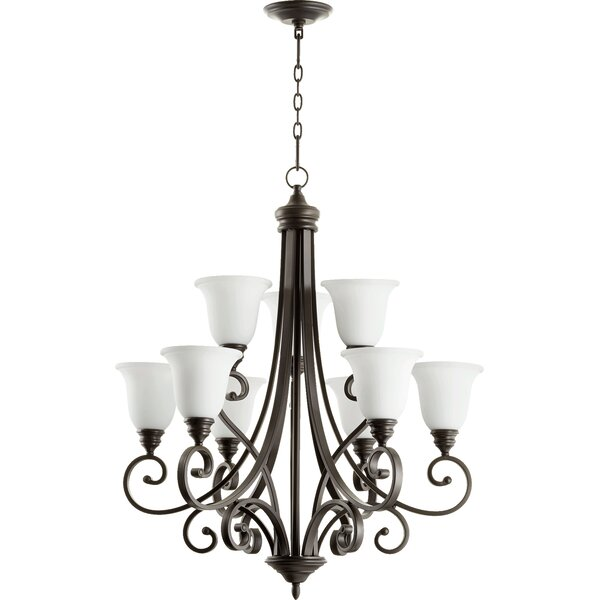 Cambron 9 - Light Shaded Empire Chandelier By Winston Porter