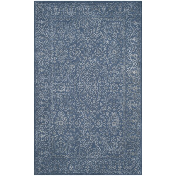 Wilkins Hand-Tufted Gray/Blue Area Rug by World Menagerie