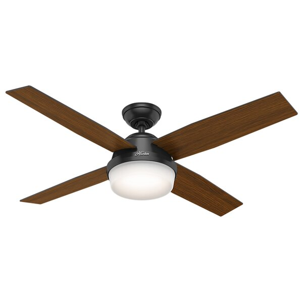 52 Dempsey 4 Blade Outdoor Ceiling Fan with Remote by Hunter Fan
