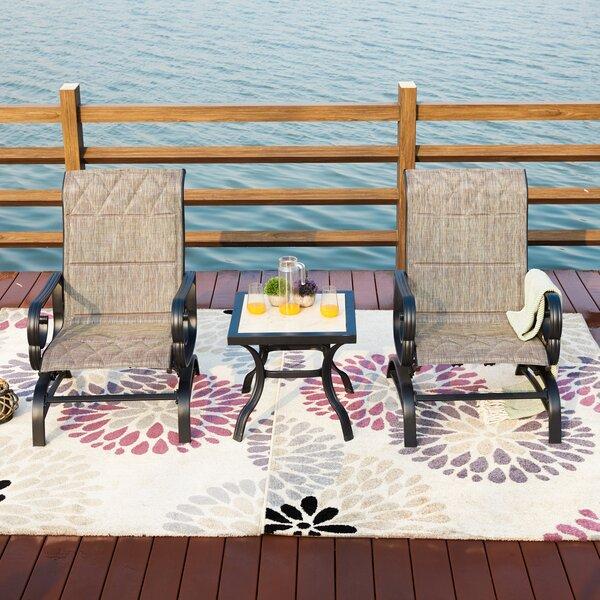 Strawbridge 3 Piece Sofa Seating Group with Cushions by Charlton Home