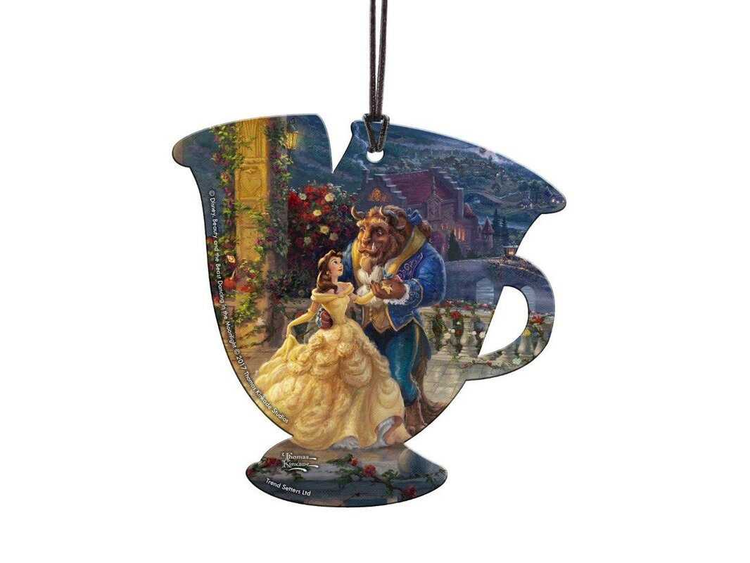 Disney Beauty And The Beast Chip Hanging Acrylic Teacup Shaped Ornament
