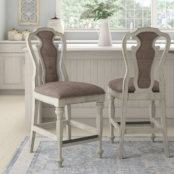 Tiphaine Upholstered Queen Anne Back Side Chair In White (Set Of 2) By Lark Manor
