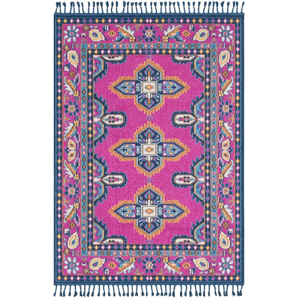 Hallwood Pink/Blue Area Rug by Bungalow Rose