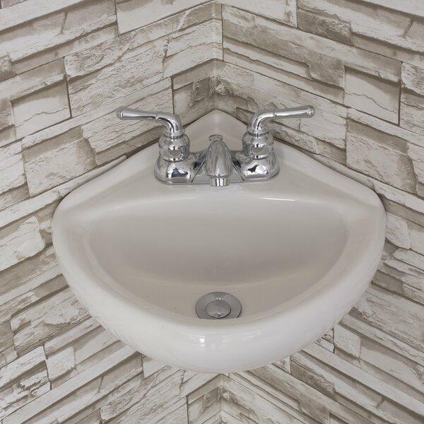 Ceramic 15 Corner Bathroom Sink by Fine Fixtures