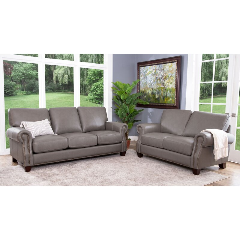 Whipton 2 Piece Leather Living Room Set & Reviews