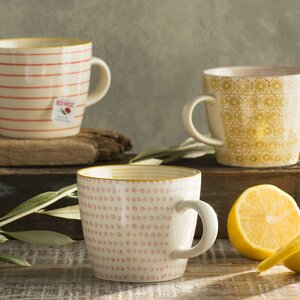 Floressa 3 Piece Ceramic Mugs Set