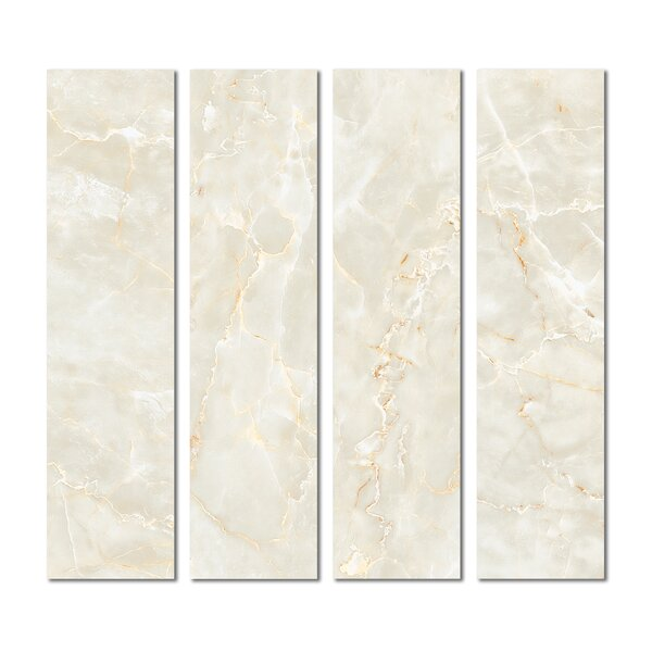 3 x 12 Beveled Glass Subway Tile in Light Beige by Upscale Designs by EMA