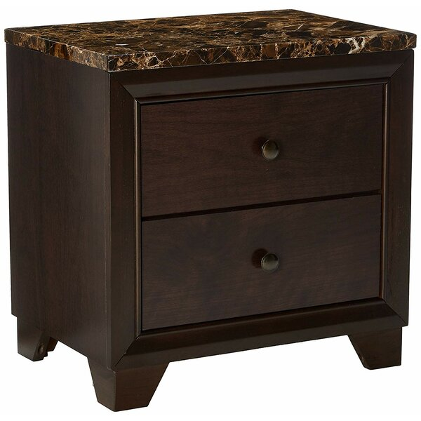 Upson 2 Drawer Nightstand by Fleur De Lis Living