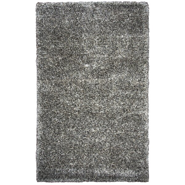Ishtar Hand-Tufted Black Area Rug by Orren Ellis