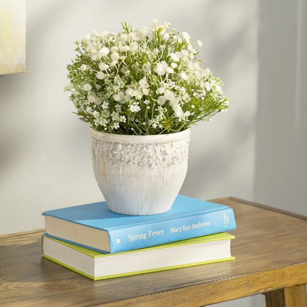 Daisy Centerpiecet in Pot by Beachcrest Home
