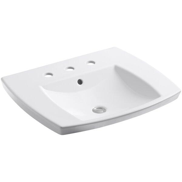 Kelston® Ceramic Rectangular Drop-In Bathroom Sink with Overflow by Kohler
