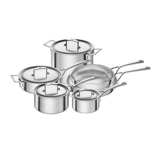 Aurora 10 Piece Stainless Steel Cookware Set by Zwilling JA Henckels