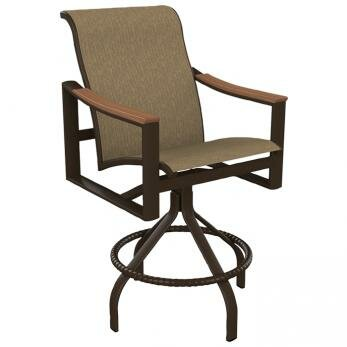 Brazo Sling Swivel Patio Bar Stool by Tropitone