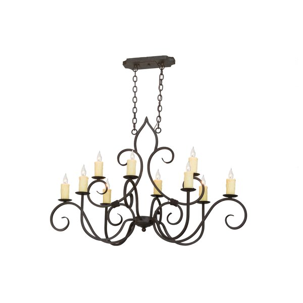 Alresford 10 - Light Candle Style Classic / Traditional Chandelier by Astoria Grand Astoria Grand