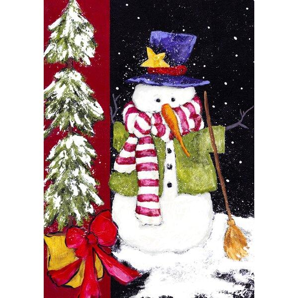 Sweeping Snowman Garden flag by Toland Home Garden