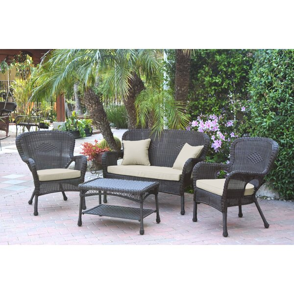 Bellas 4 Piece Sofa Set with Cushions by August Grove