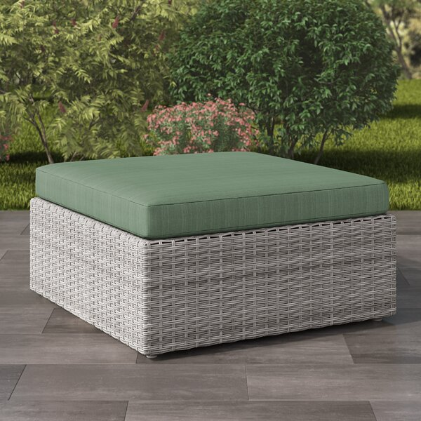 Killingworth Outdoor Ottoman with Cushion by Rosecliff Heights