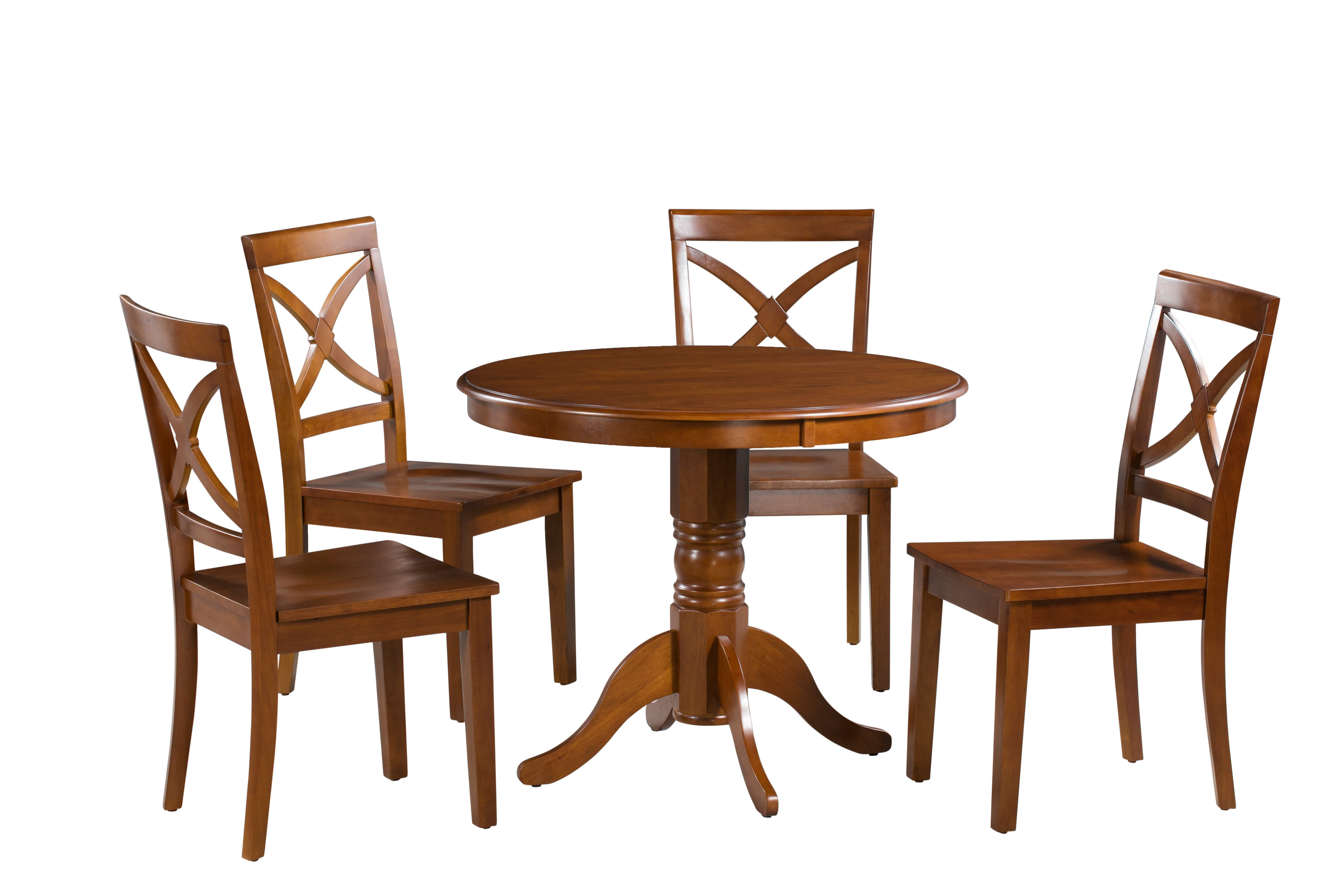 Andover Mills Montevia 5 Piece Rubber Solid Wood Dining Set Reviews Wayfair