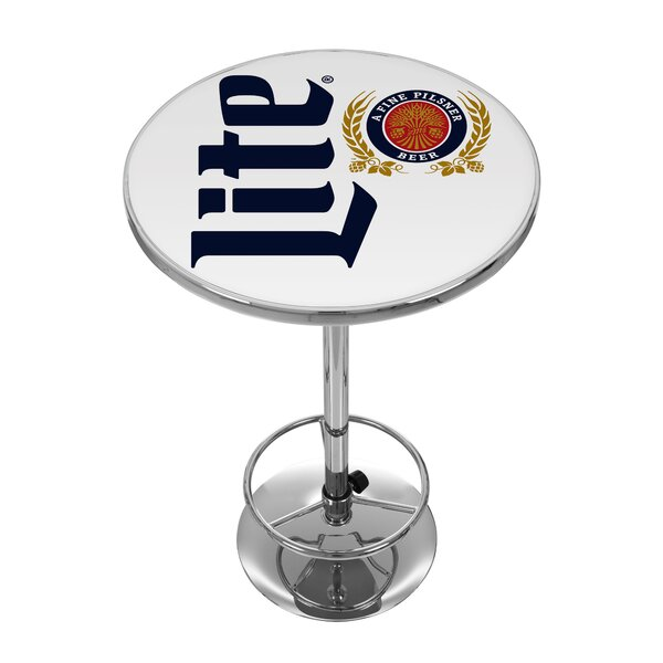 Miller Lite Retro Pub Table by Trademark Global Trademark Global