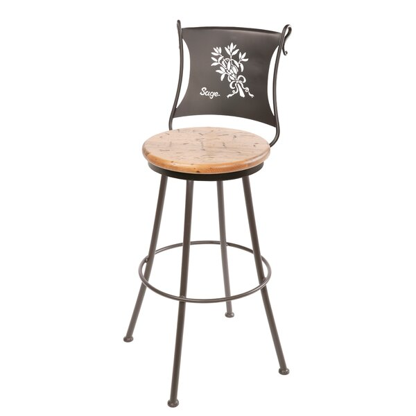 Chism Sage Swivel Bar & Counter Stool By Fleur De Lis Living