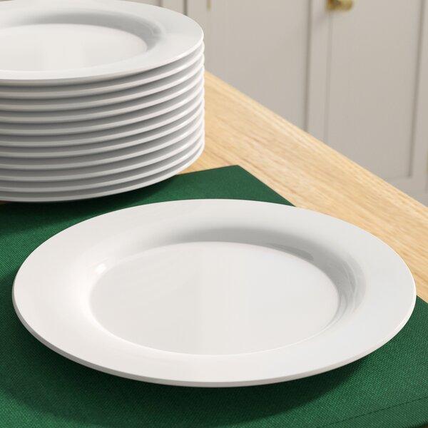 Romer 10.5 Catering Packs Round Dinner Plate (set Of 12) By Winston Porter.