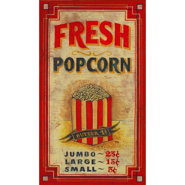 Popcorn Vintage Advertisement Plaque by Ebern Designs