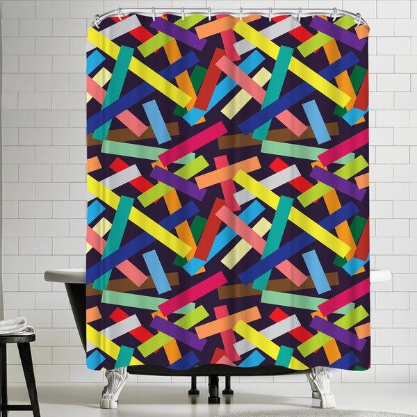 Joe Van Wetering Confetti Shower Curtain by East Urban Home