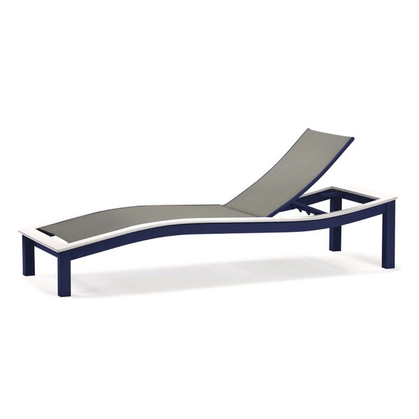 Bazza Marine Grade Sling Contour Reclining Chaise Lounge by Telescope Casual Telescope Casual