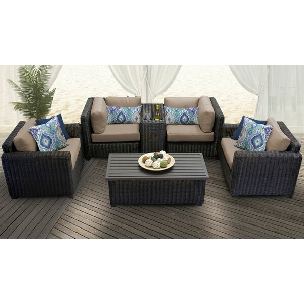 Fairfield 6 Piece Sofa Seating Group with Cushions by Sol 72 Outdoor