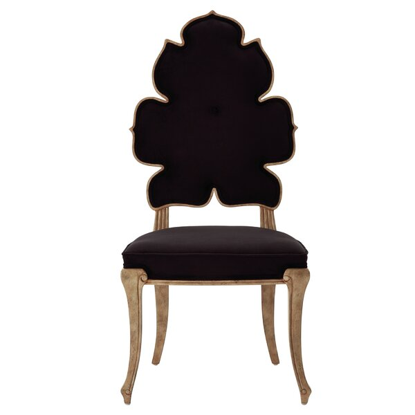 Wiggle Upholstered Queen Anne Back Side Chair by Global Views Global Views