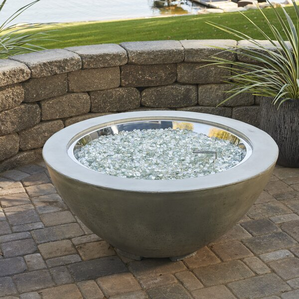 Cove Concrete Propane/Natural Gas Fire Pit by The Outdoor GreatRoom Company