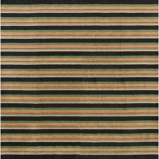 Affordable One-of-a-Kind Seidman Oriental Hand-Knotted 9' 10'' X 9' 10'' Wool Black/Beige Area Rug ByBloomsbury Market