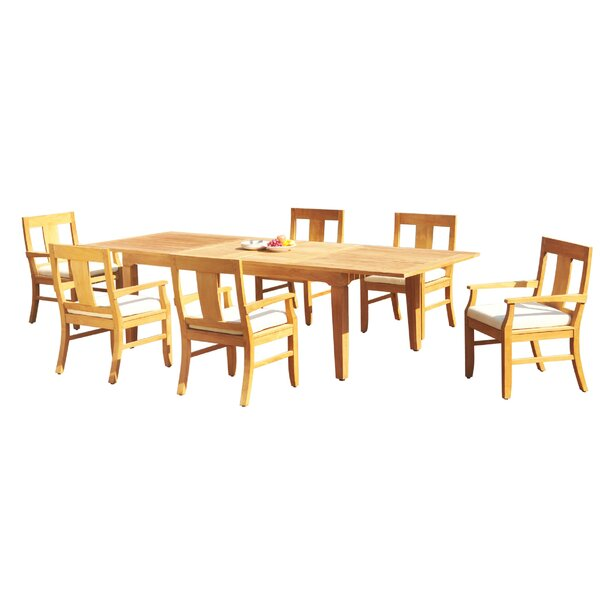 Marview 7 Piece Teak Dining Set by Rosecliff Heights